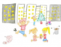 Claudia Ruiz, from Sant Boi de Llobregat, the artist picked for the FPdGi's Christmas card