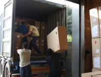 First shipments of wheelchairs to latin america